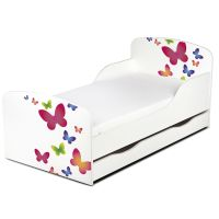 BUTTERFLIES MDF TODDLER BED WITH UNDERBED STORAGE NEW KIDS ...