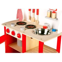 Kids Play Kitchen Accessories Industrial Looking Ideas Leomark Wooden Childrens With