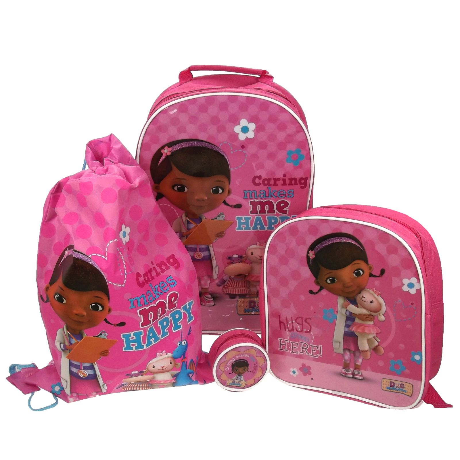 doc mcstuffins upholstered chair uk gothic revival chairs 4 piece luggage set trolley bag backpack