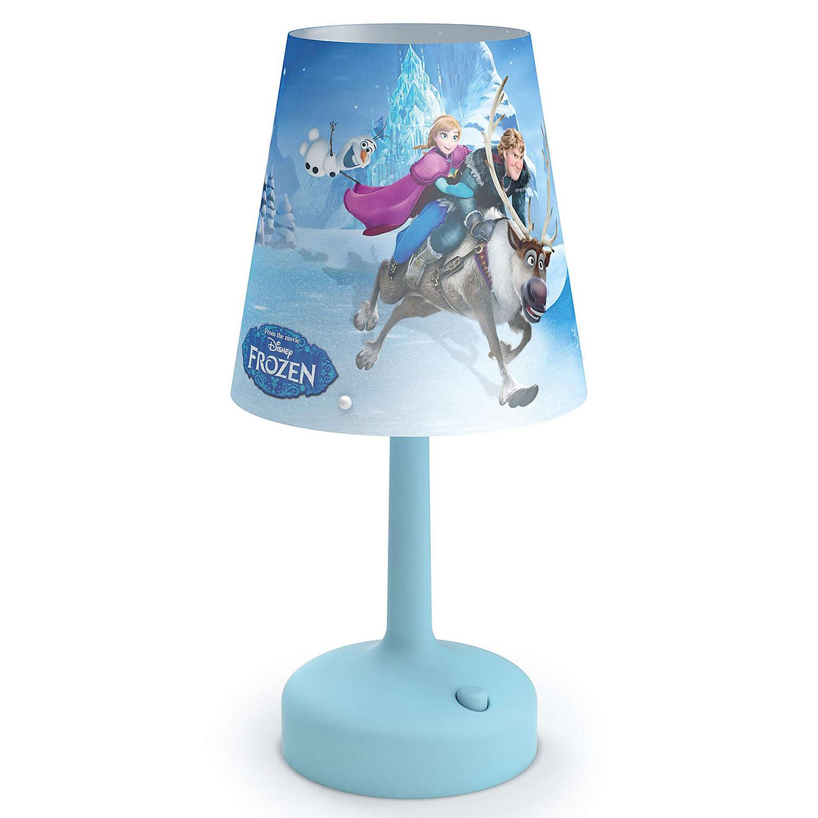 DISNEY FROZEN PORTABLE TABLE LAMP KIDS BEDROOM LIGHTING