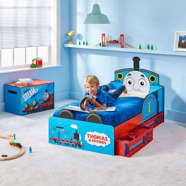 Thomas & Friends Mdf Toddler Bed With Storage Deluxe