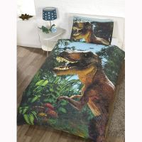 DINOSAUR DESIGN SINGLE DUVET COVER SETS BOYS BEDDING ...