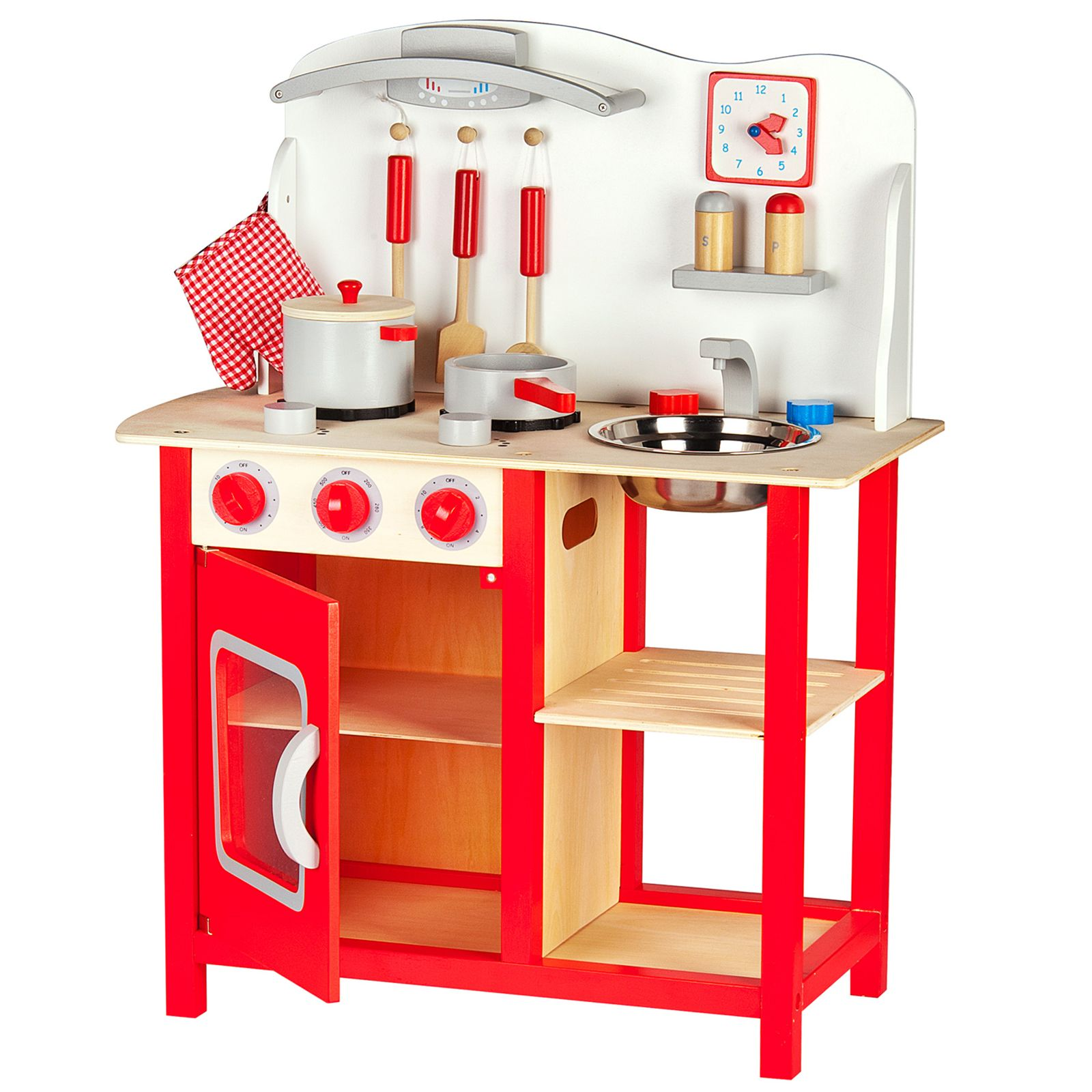 kids play kitchen accessories where to buy a island leomark wooden childrens with
