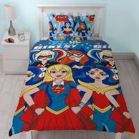 DC SUPER HERO GIRLS DUVET COVER SET SUPERGIRL BATGIRL ...