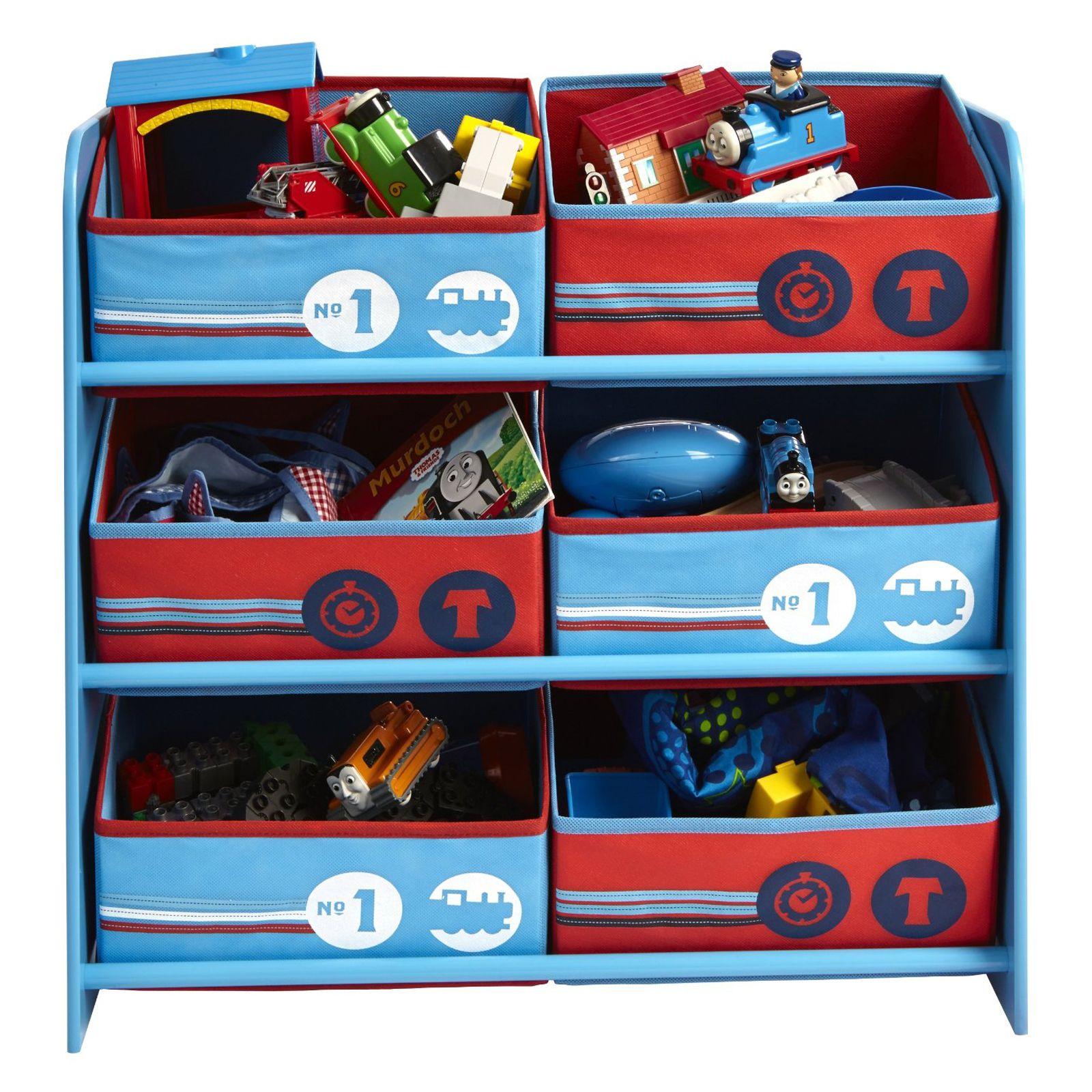 thomas the tank engine desk and chair wooden high padded cover friends 6 bin storage bedroom furniture