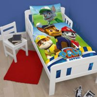 PAW PATROL JUNIOR TODDLER COT BED DUVET COVER SET NEW ...