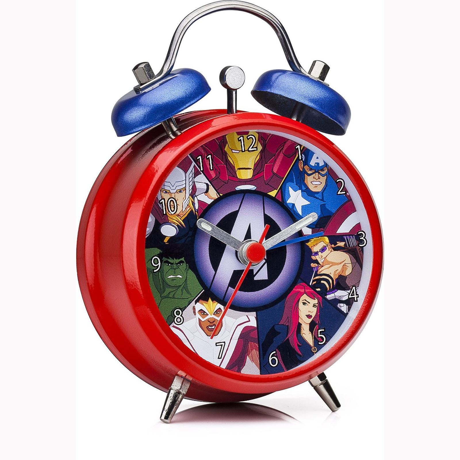 Marvel Avengers Mini Twinbell Alarm Clock New