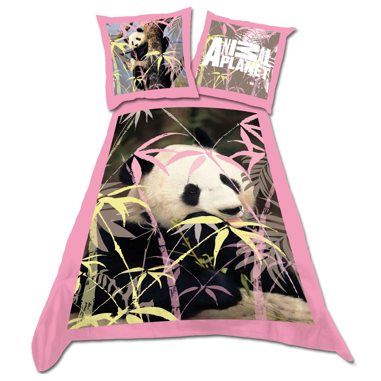 ANIMAL PLANET 'PANDA BEAR' SINGLE DUVET COVER 100% COTTON