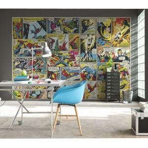 marvel comic wall bedroom mural comics avengers murals decor character disney diy rooms childrens accessories spiderman decals wallpapersafari delivery background