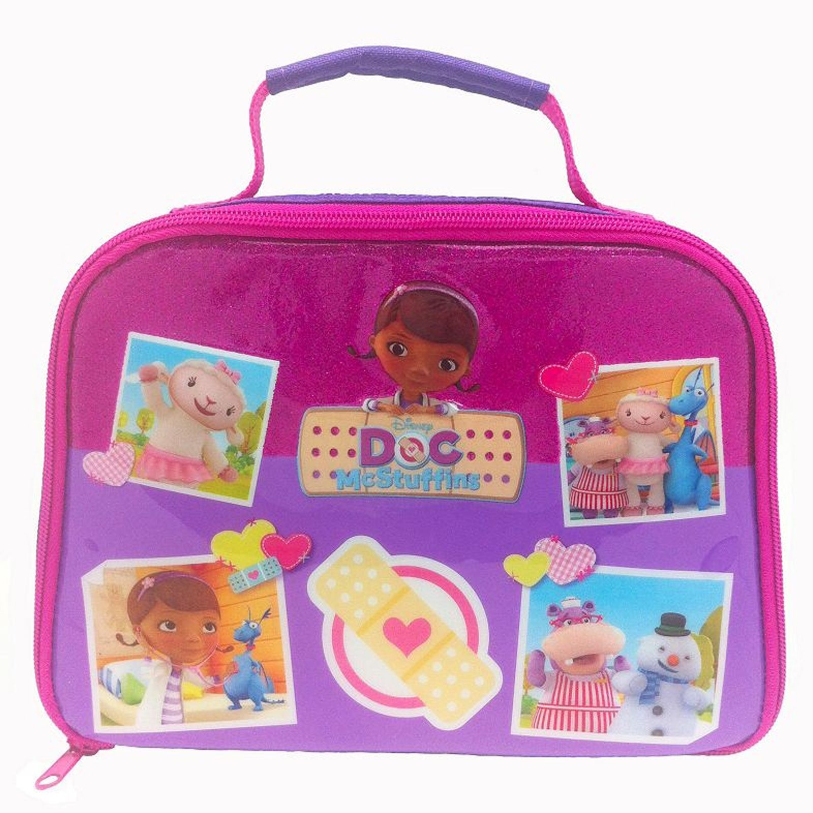 doc mcstuffins upholstered chair uk round oak table and chairs insulated school lunch bag new disney ebay