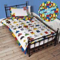 LEGO CLASSIC MINIFIGURES SINGLE DUVET COVER SET PANEL ...