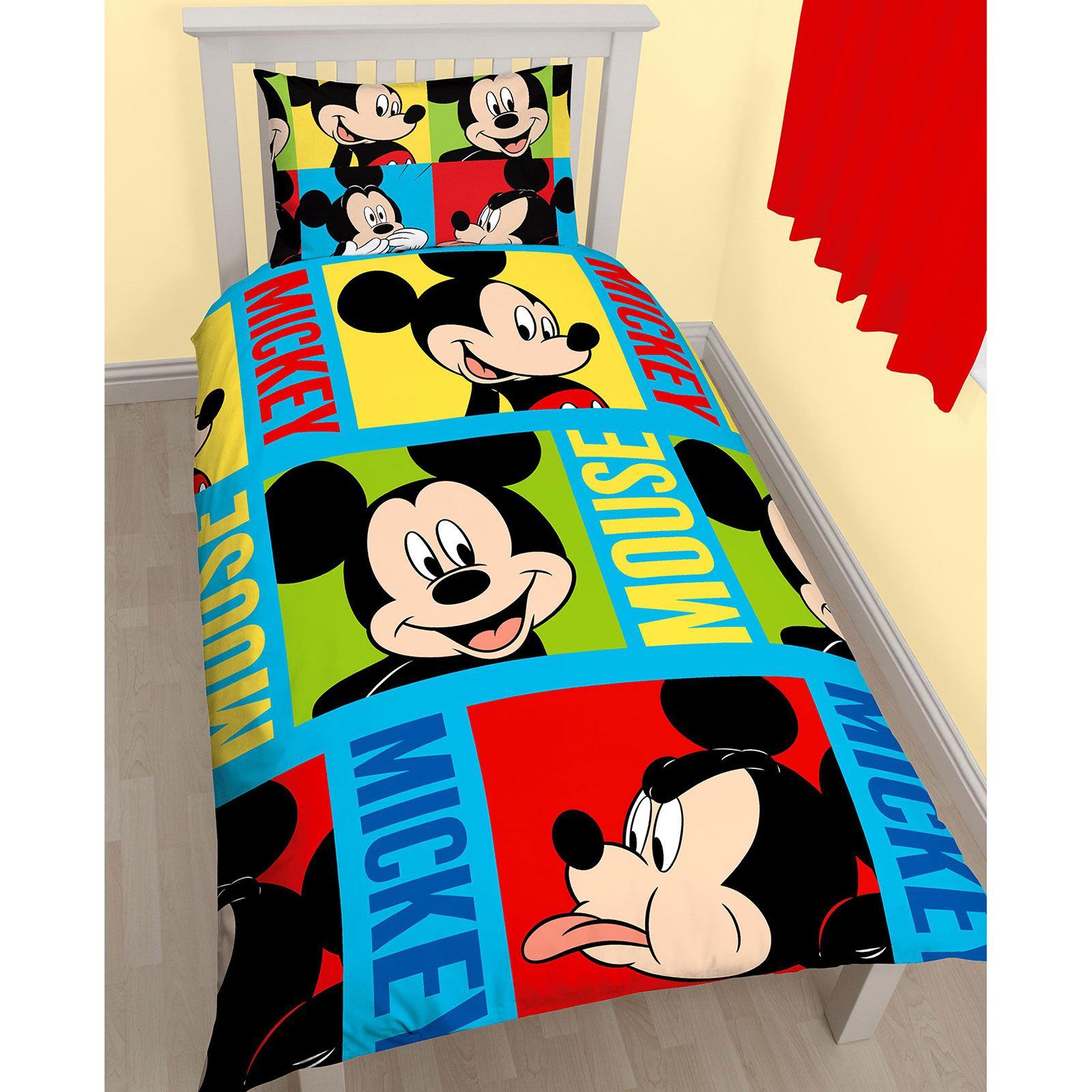 mickey mouse table and chairs australia herman miller india disney bright single duvet cover set kids