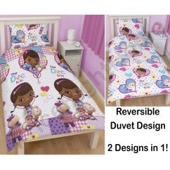 Doc Mcstuffins Chair Smyths Resin Adirondack Chairs Bedroom Bedding Duvet Covers In Single And