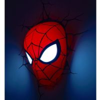 MARVEL SPIDERMAN 3D LED WALL LIGHT LAMP MASK + STICKERS NEW