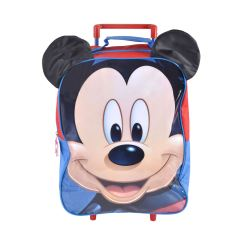 Mickey Mouse Table And Chairs Australia Patio Chair Glides Round New Wheeled Trolley Bag With 3d Ears Kids