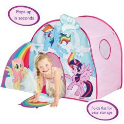My Little Pony Table And Chairs Chair Covers Event Official Pop Up Role Play Tent Rainbow Dash