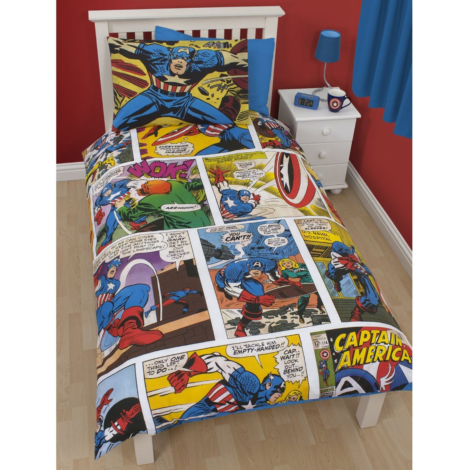 captain america table and chair set hanging reviews official marvel comics bedding bedroom accessories