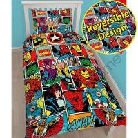 SUPERHERO SINGLE & DOUBLE BEDDING  MARVEL COMICS ...