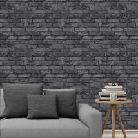 RASCH & FINE DECOR 10M LUXURY BRICK EFFECT WALLPAPER STONE ...