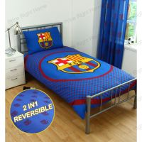 BARCELONA BEDDING AND BEDROOM ACCESSORIES BOYS FOOTBALL ...