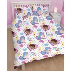 Doc Mcstuffins Upholstered Chair Uk Modern Kitchen High Chairs Double Duvet Cover And Pilowcases Set New