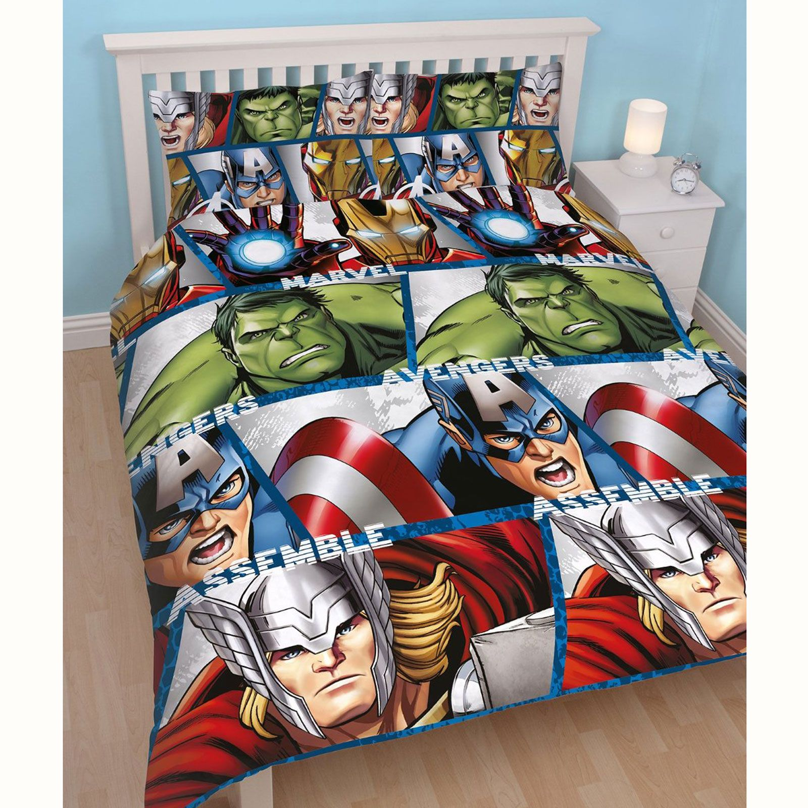 captain america table and chair set marcel breuer cesca replacement marvel avengers shield 2 in 1 double duvet cover hulk
