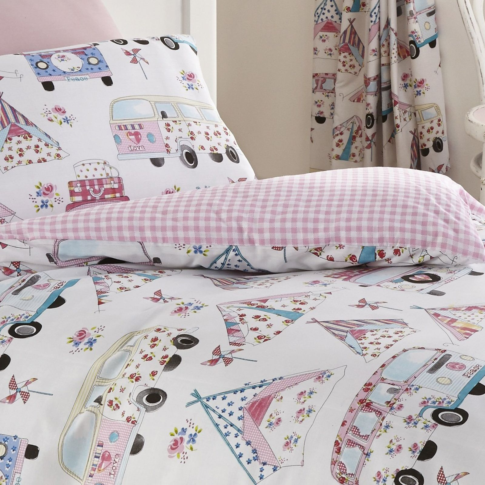 Campervan Duvet Cover Sets Single Double Variety Of