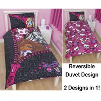 MONSTER HIGH DUVET COVER SETS AVAILABLE IN SINGLE & DOUBLE ...