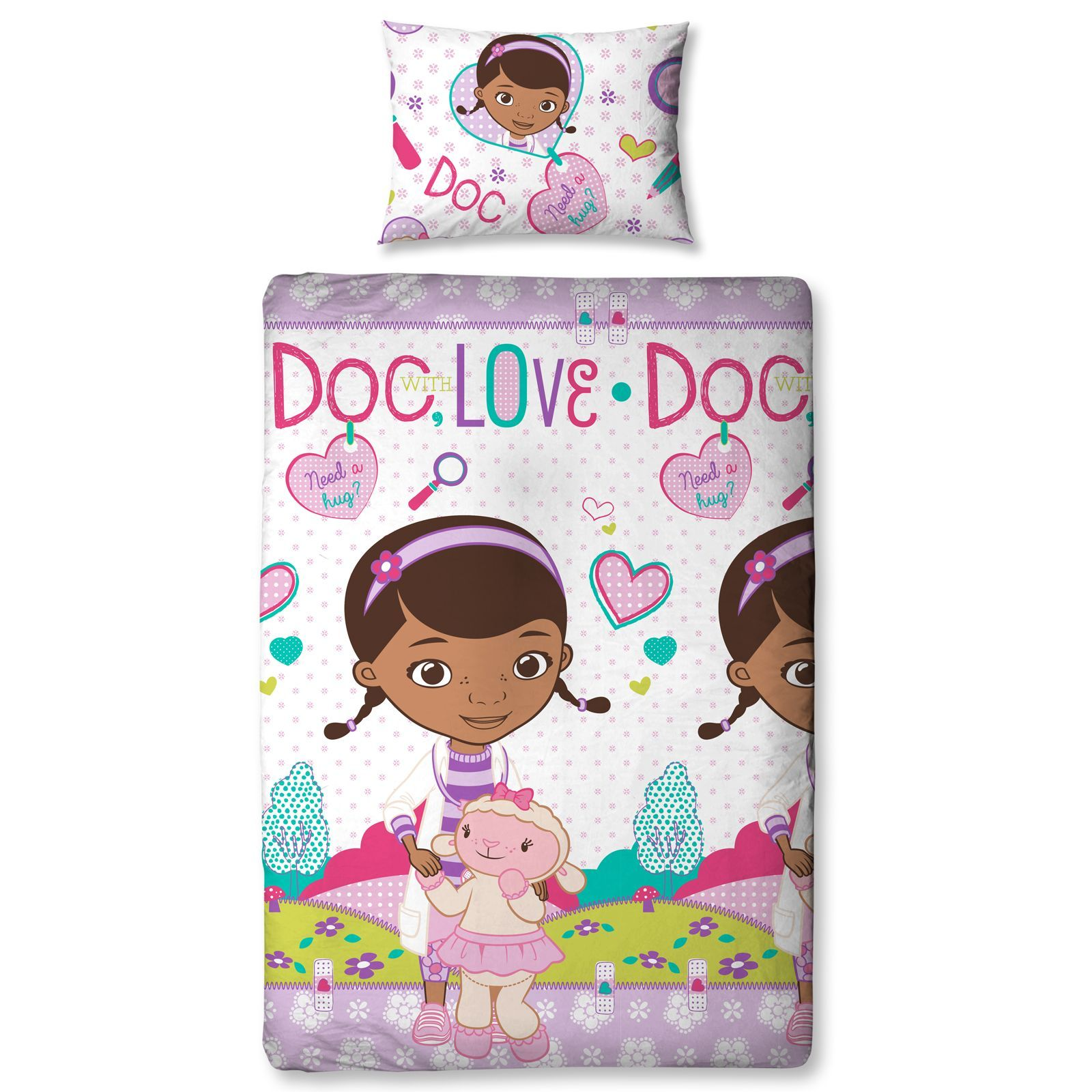 doc mcstuffins upholstered chair uk rug under office bedding single and double duvet cover sets