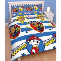 PAW PATROL PAWSOME DOUBLE DUVET COVER AND PILLOWCASE SET ...