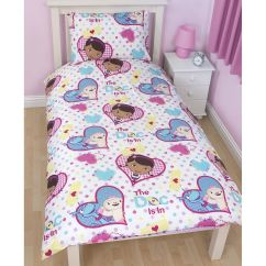 Doc Mcstuffins Upholstered Chair Uk Yoga Seniors Bedroom Bedding Duvet Covers In Single And
