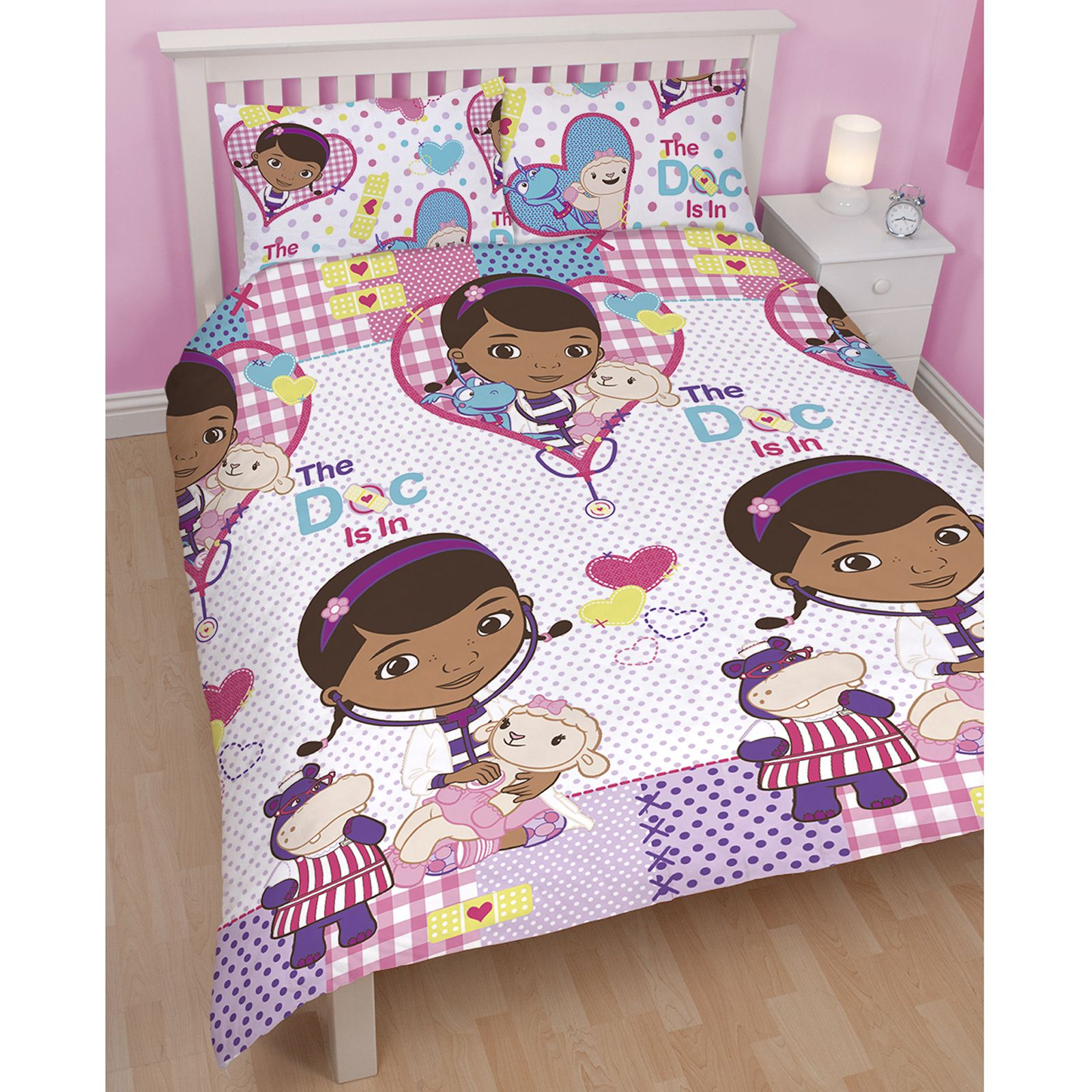 doc mcstuffins upholstered chair uk how to reupholster kitchen chairs double duvet cover and pilowcases set new
