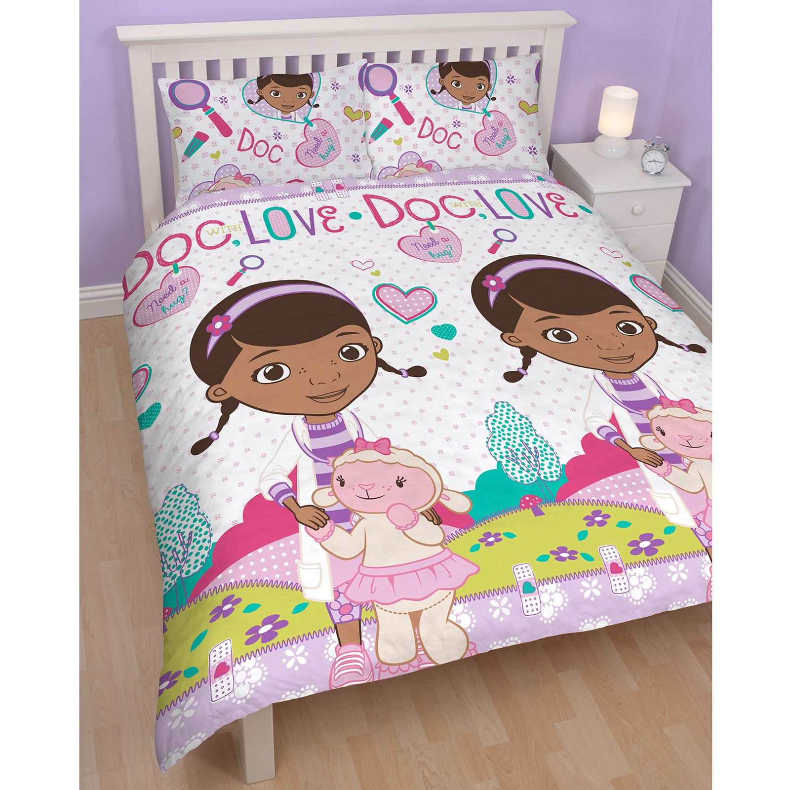 doc mcstuffins chair smyths covers xmas bedroom bedding duvet in single and