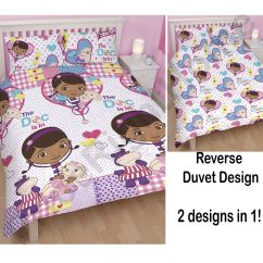Doc Mcstuffins Upholstered Chair Uk Shower Chairs On Wheels For Disabled Double Duvet Cover And Pilowcases Set New