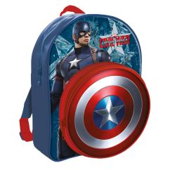Captain America Table And Chair Set Wicker Saucer New Shield School Bag Backpack