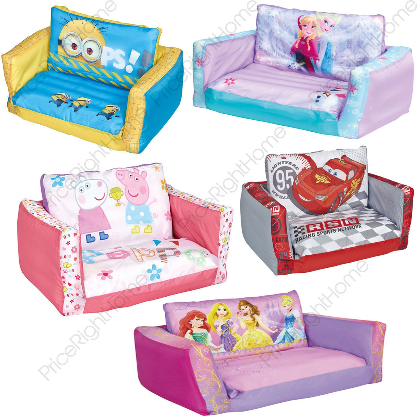 inflatable sofa bed the range black faux leather sectional with left facing storage chaise flip out kids room new minions