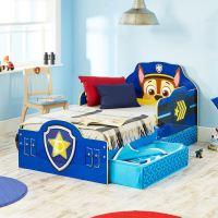 PAW PATROL CHASE TODDLER BED WITH STORAGE BLUE NEW FREE P