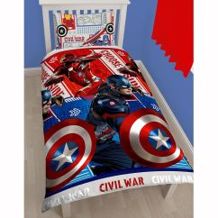Captain America Table And Chair Set Walmart Folding Lawn Chairs Marvel Civil War Single Duvet Cover