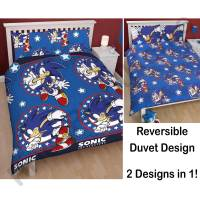 SONIC THE HEDGEHOG BEDROOM  SINGLE + DOUBLE DUVET COVERS
