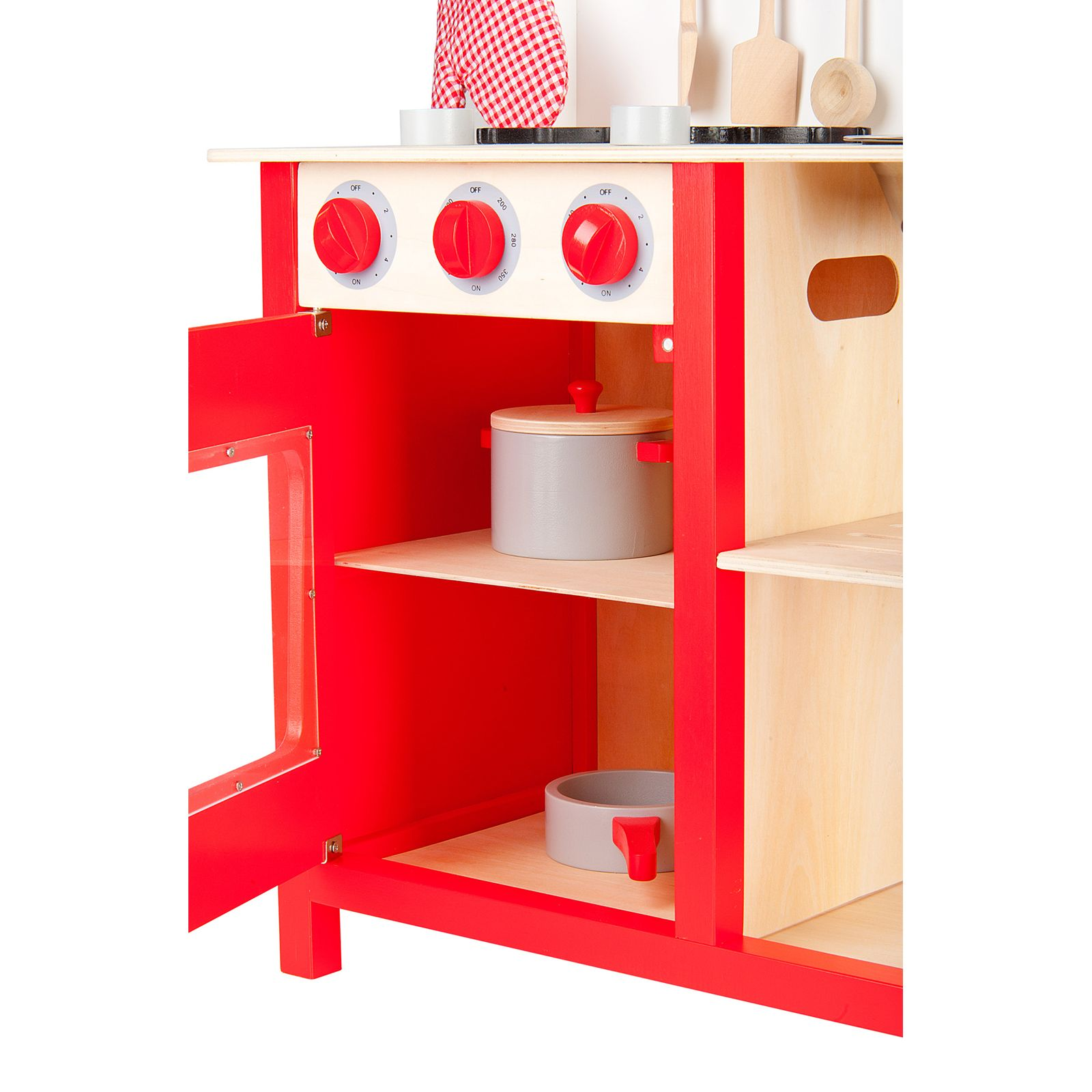 kids play kitchen accessories floating island leomark wooden childrens with