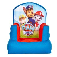 PAW PATROL COSY CHAIR KIDS THEMED BEDROOM RED BLUE