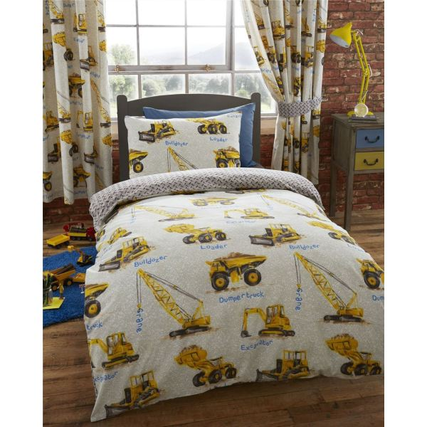 Construction Duvet Covers Design In Single & Double Bedding