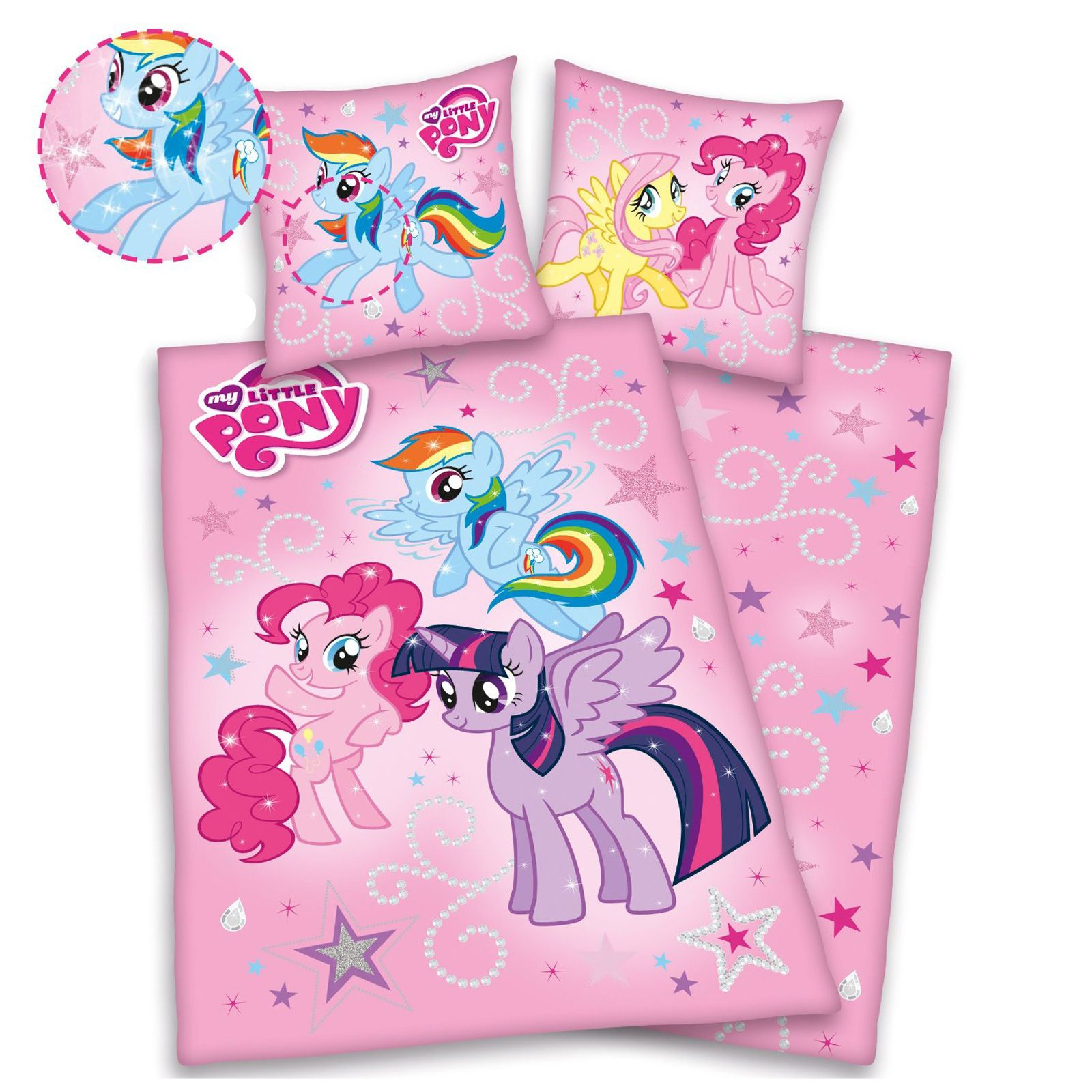 my little pony table and chairs scandinavian design kneeling chair duvet cover with glitter effect print 100