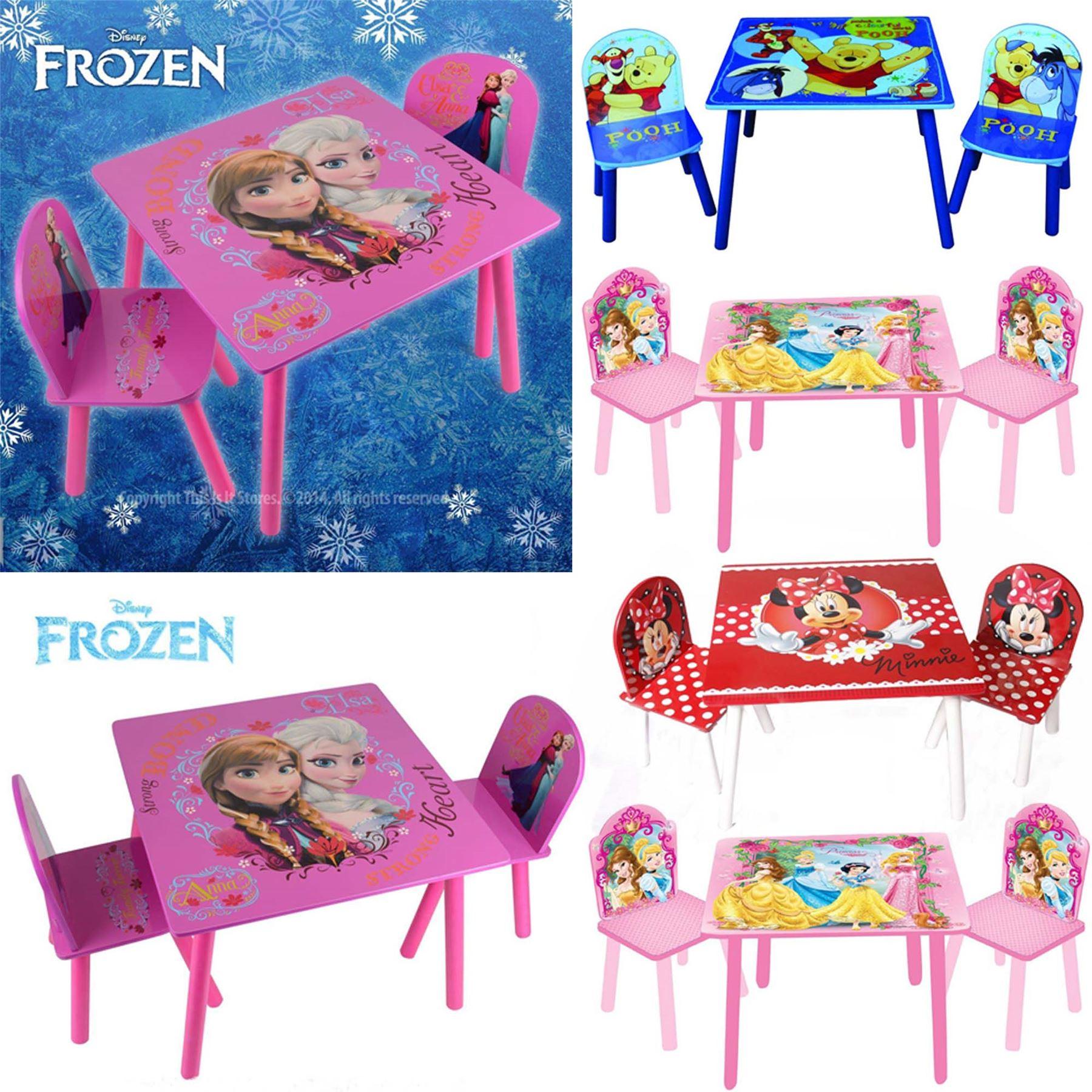 disney princess chair wayfair adirondack cushions frozen furniture table and chairs set