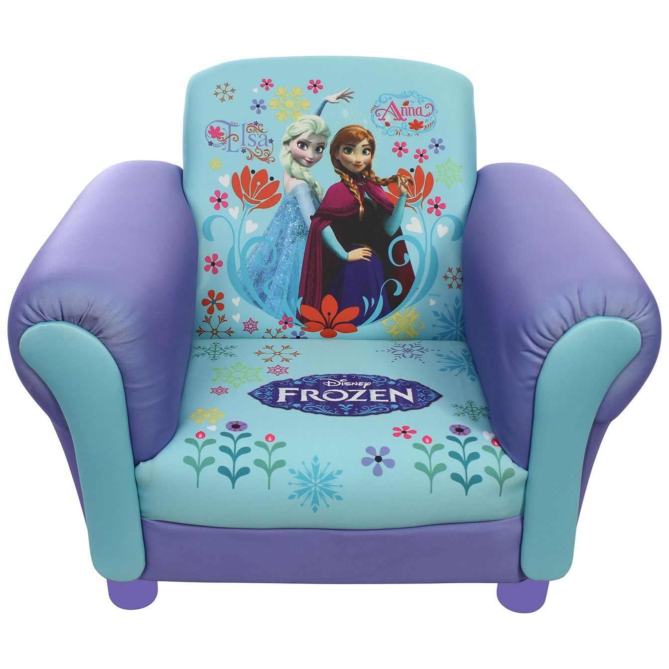 childrens upholstered chair modern dining tables and chairs disney kids frozen anna elsa mickey mouse