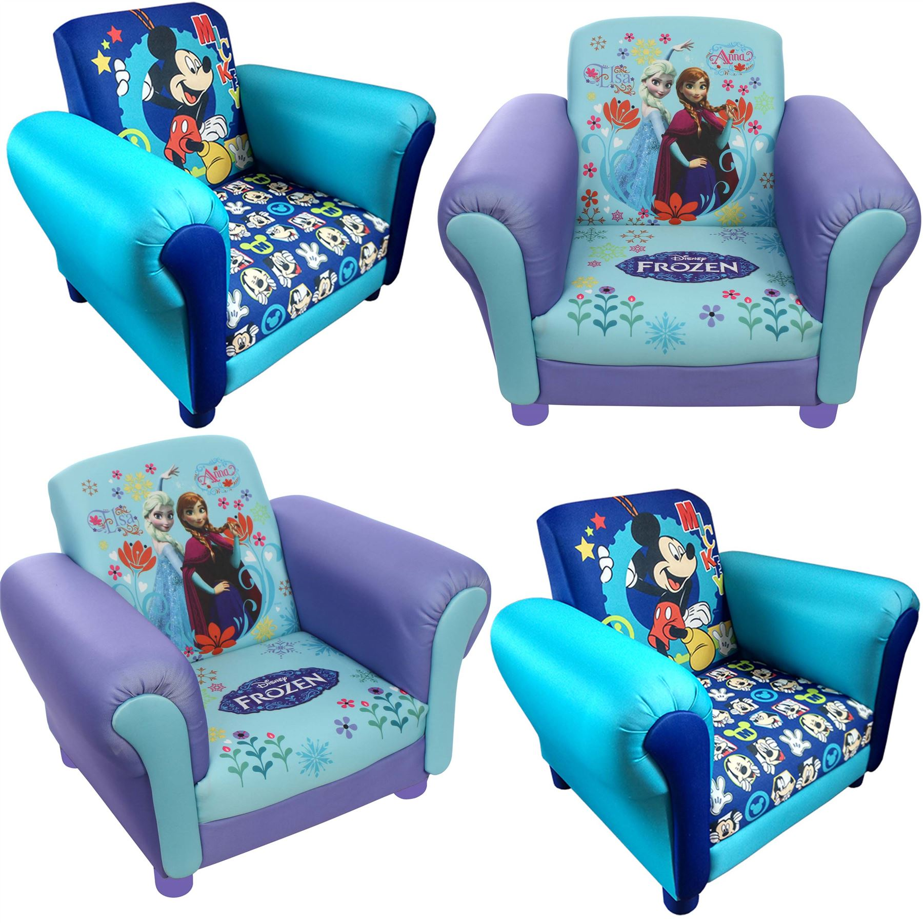 Elsa Chair Children 39s Princess Frozen Elsa And Anna Upholstered Chair