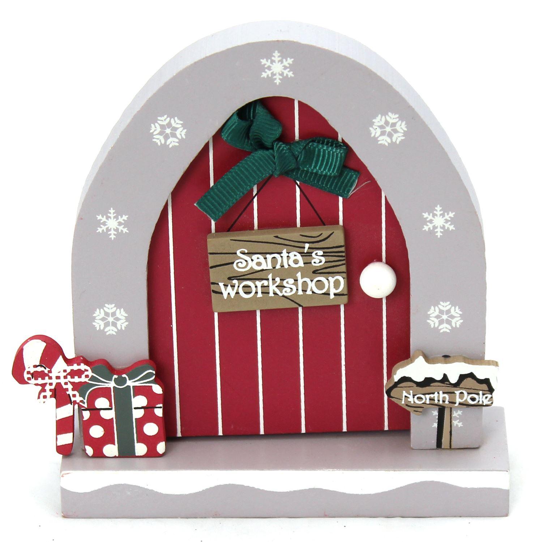 Wooden Opening Christmas Elf Elves Fairy Door Decoration