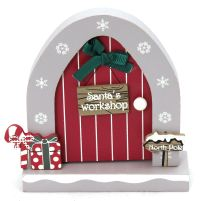 Wooden Opening Christmas Elf Elves Fairy Door Decoration