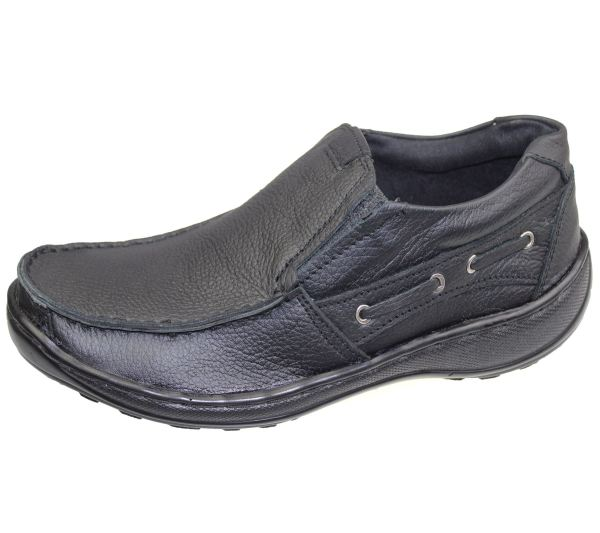 Mens Leather Casual Comfort Walking Lace Mocassin