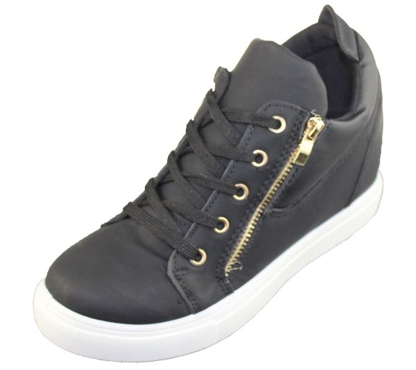 900520802 ... Girls High Top Wedge Sneakers Women Shoes ...
